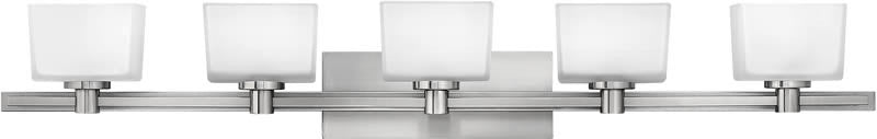 "45""w Taylor 5-Light Halogen Bath Vanity Brushed Nickel"