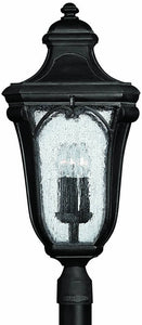 "28""h Trafalgar 3-Light Extra-Large Outdoor Post Lantern Museum Black"