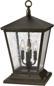 Trellis 4-Light Pier Mount Outdoor Regency Bronze