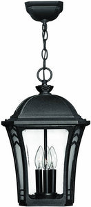 "11""w Wabash 3-Light Outdoor Pendant Museum Black"