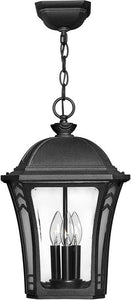 Hinkley Wabash 1-Light LED Outdoor Hanging Lantern Museum Black 1332MBLED