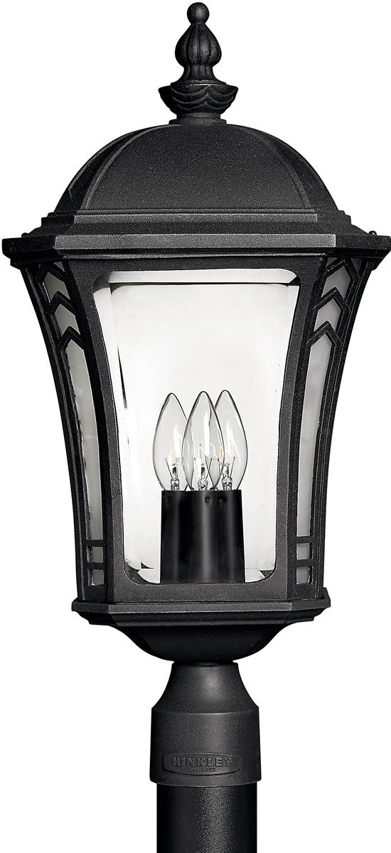 "23""H Wabash 1-Light LED Post Outdoor Museum Black"