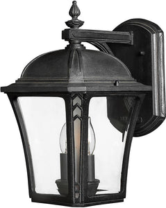 Hinkley Wabash 1-Light LED Outdoor Wall Mount Museum Black 1334MBLED