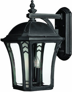 Hinkley Wabash 3-Light Large Outdoor Wall Lantern Museum Black 1335MB