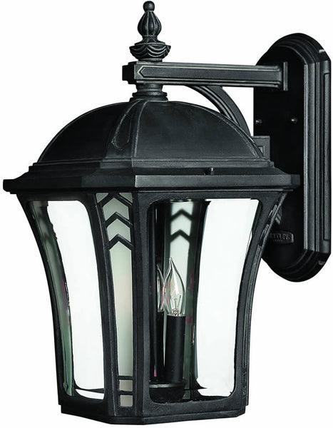 "19""h Wabash 3-Light Large Outdoor Wall Lantern Museum Black"