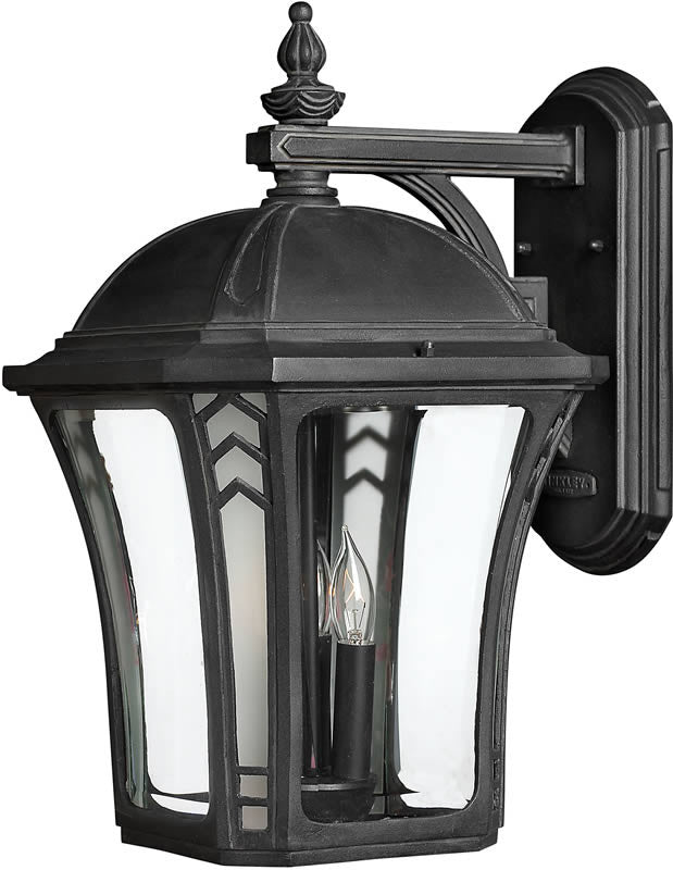"19""h Wabash 1-Light LED Outdoor Wall Mount Museum Black"