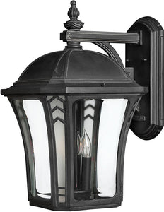 Hinkley Wabash 1-Light LED Outdoor Wall Mount Museum Black 1335MBLED