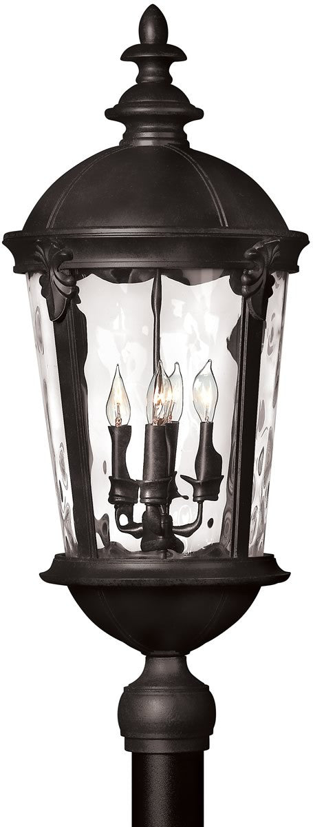"30""h Windsor 4-Light Post Outdoor Black"