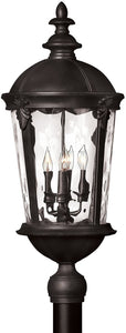 Hinkley Windsor 4-Light Post Outdoor Black 1891BK