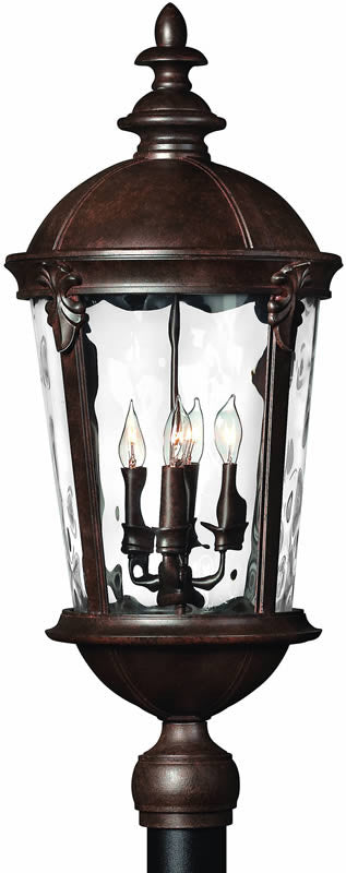 "30""h Windsor 4-Light Large Outdoor Post Lantern River Rock"