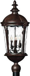 Hinkley Windsor 4-Light Large Outdoor Post Lantern River Rock 1891RK