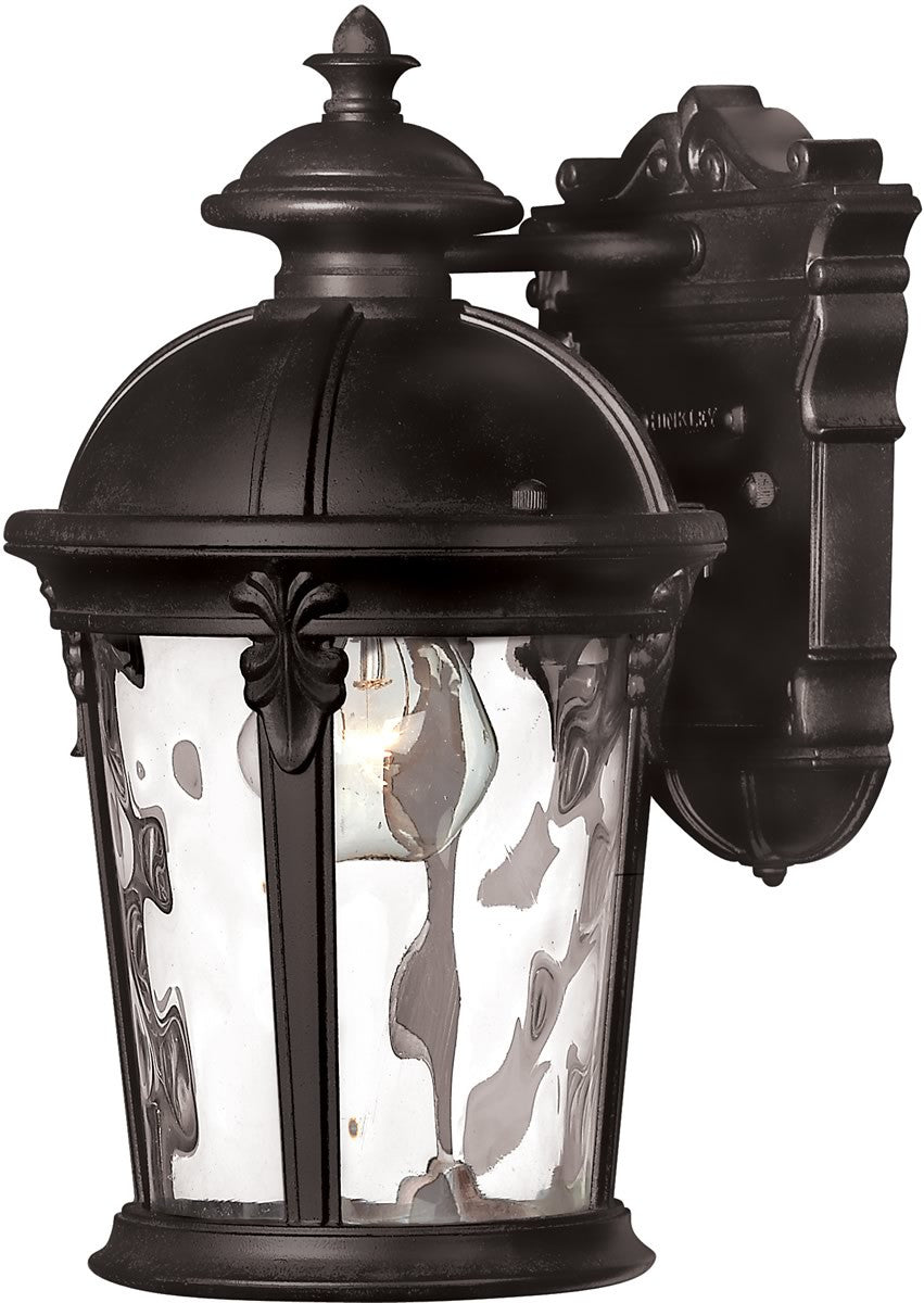 "13""h Windsor 1-Light Wall Outdoor Black"