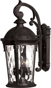 Hinkley Windsor 3-Light Wall Outdoor Black 1898BK