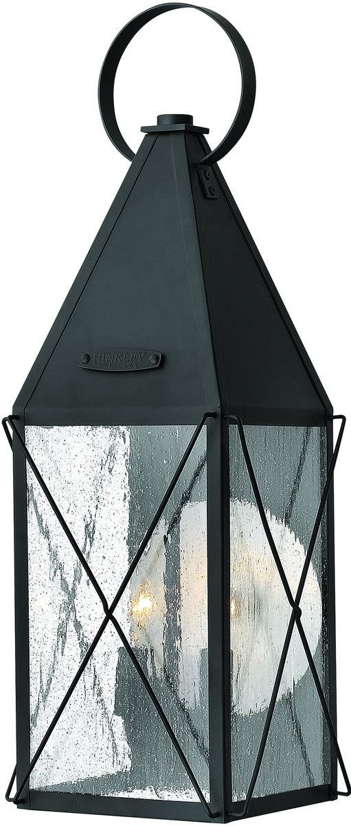 "21""h York 2-Light Medium Outdoor Wall Lantern Black"