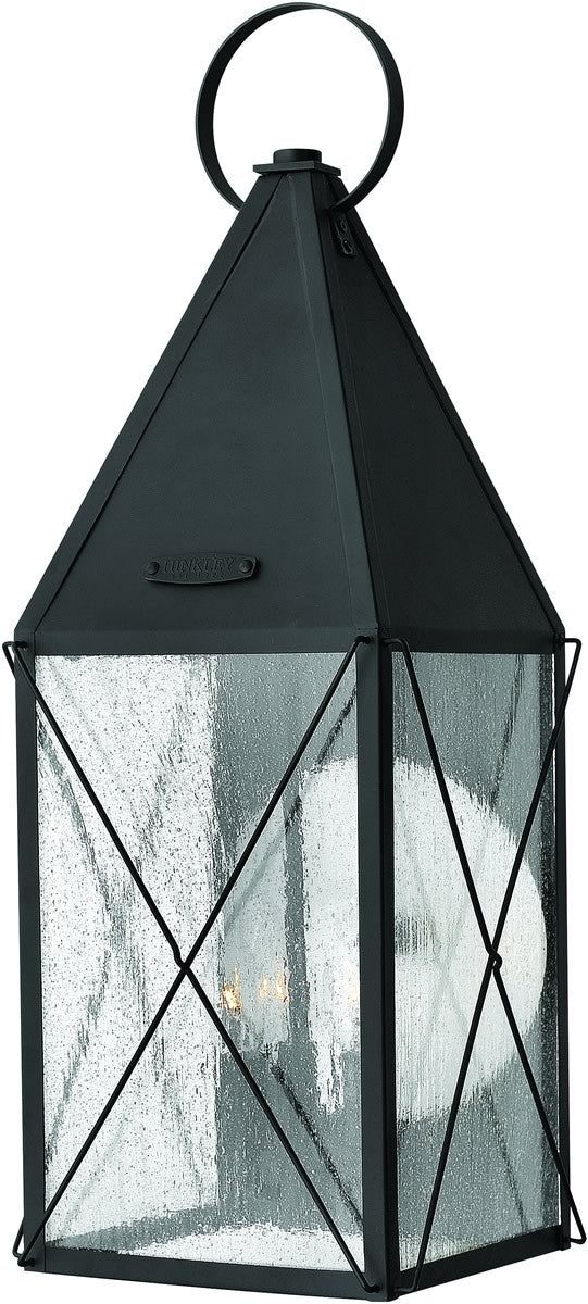"25""h York 3-Light Large Outdoor Wall Lantern Black"