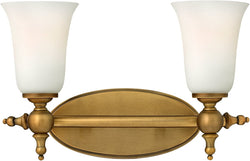 "7""w Yorktown 2-Light Bath Brushed Bronze"