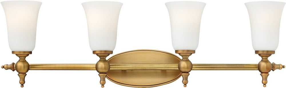 "33""w Yorktown 4-Light Bath Brushed Bronze"