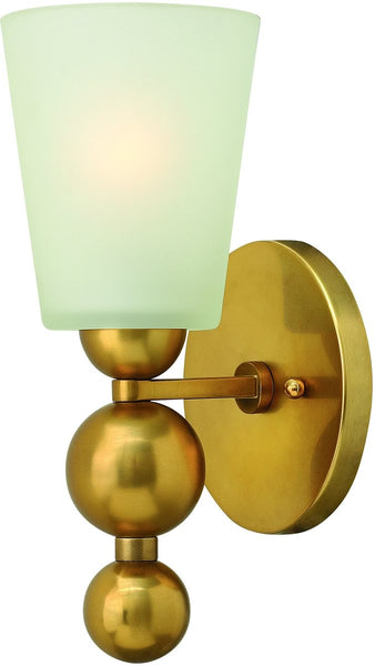 "6""w Zelda 1-Light Wall Sconce Vintage Brass"