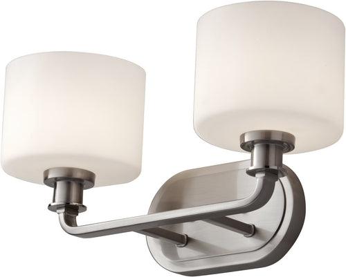 Home Solutions Kincaid 2-Light Bath Vanity Brushed Steel VS29002BS