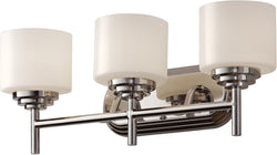 "7""w Malibu 3-Light Bath Vanity Polished Nickel"