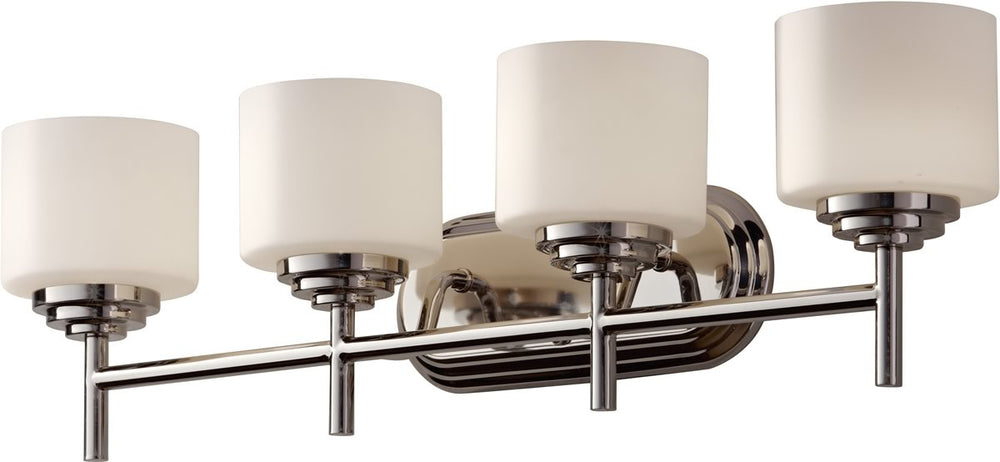 "7""w Malibu 4-Light Bath Vanity Polished Nickel"