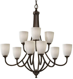 Home Solutions Perry 9-Light Chandelier Heritage Bronze F258563HTBZ