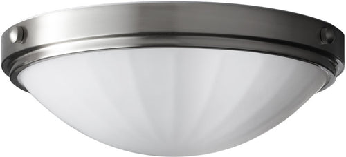 Home Solutions Perry 2-Light Flush Mount Brushed Steel FM352BS
