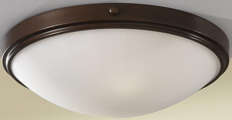 "15""w Perry 2-Light Flush Mount Heritage Bronze"