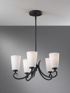 "21""w Peyton 5-Light Chandelier Black"
