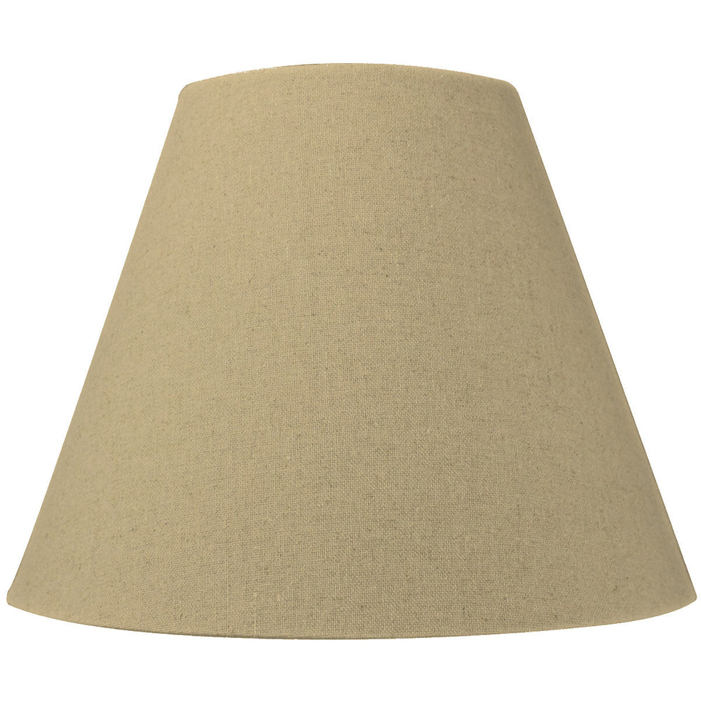 "14""W x 11""H Empire Sand Linen Spider Fitter Lampshade"