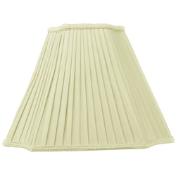 HomeConcept 7x15x12 Eggshell with Off White Liner Lampshade