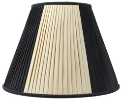 HomeConcept 8x16x12 Beige/Black with Gold Liner Lampshade