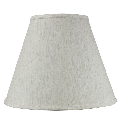HomeConcept Textured Oatmeal Hard Back Empire Shade 7x14x11