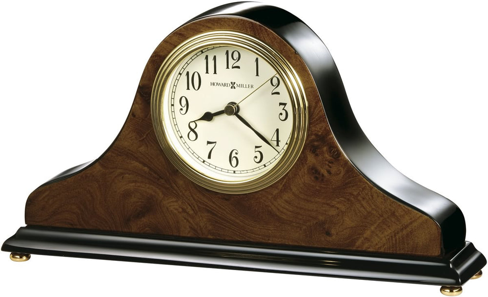 Baxter Table Clock Walnut Piano