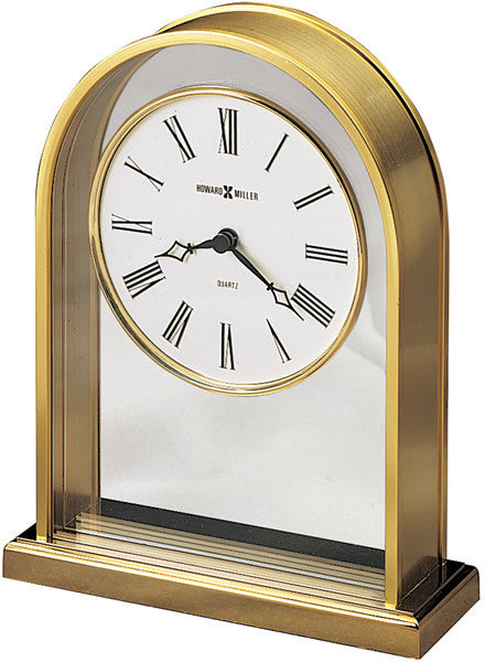 "7""H Reminisce Table-top Clock Cream and Crystal"
