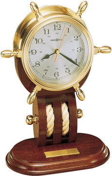 "13""H Britannia Table Clock Brass"