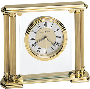 "7""H Athens Table-top Clock Brushed Brass"