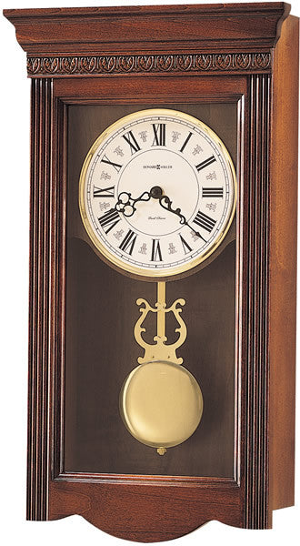 "21""h Eastmont Wall Clock Windsor Cherry"