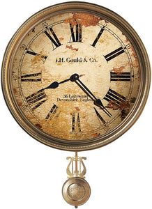 Howard Miller J.H. Gould and Co. III Wall Clock Antique Brass 620441