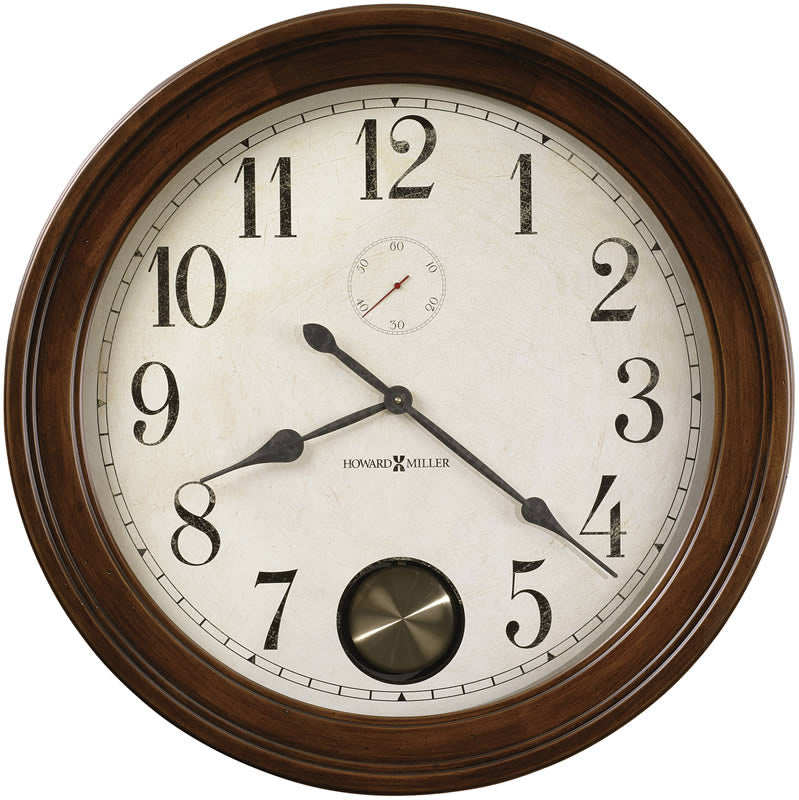 "33""H Auburn Wall Clock Hampton Cherry"
