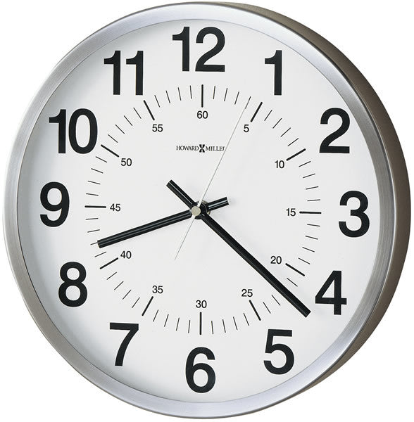 "12""H Easton Wall Clock Spun Nickel"
