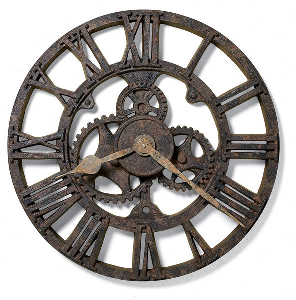 Allentown Wall Clock Rusted Antique