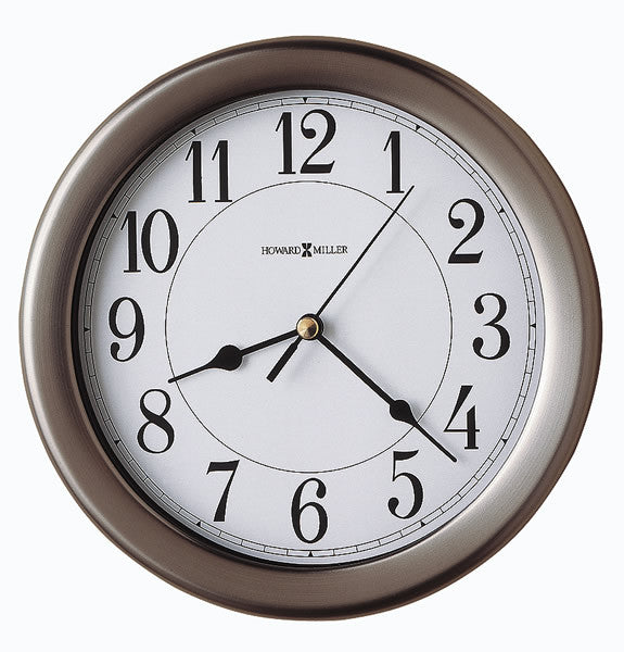 Aries Wall Clock Brushed Nickel