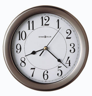 "9""H Aries Wall Clock Brushed Nickel"