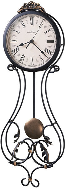 Paulina Wall Clock Charcoal Gray