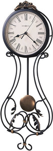 Howard Miller Paulina Wall Clock Charcoal Gray 625296