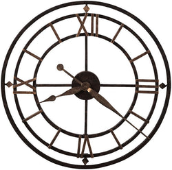 "21""h York Station Wall Clock Antique Gold"