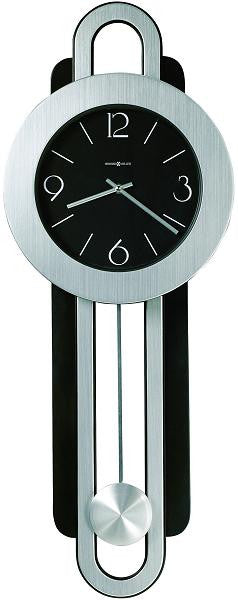Constance Wall Clock Brushed Nickel and Satin Black