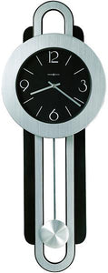 "33""H Constance Wall Clock Brushed Nickel and Satin Black"