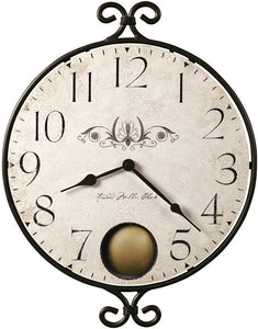 "18""h Randall Wall Clock Warm Gray"
